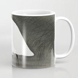 Egret In Swamp Waiting For Fish - Vintage Japanese Woodblock Print Coffee Mug