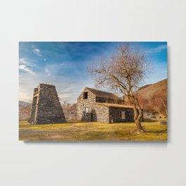 Welsh Quarry Buildings Metal Print