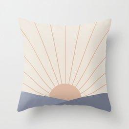 Morning Light - Blue Throw Pillow