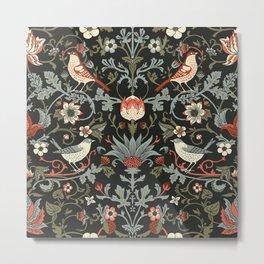 Birdsong Noir Larger Pattern Metal Print