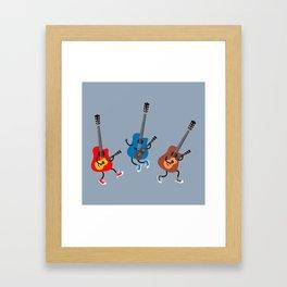 Dancing guitars Framed Art Print