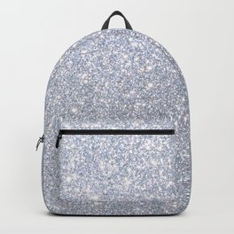 Silver Metallic Sparkly Glitter Backpack