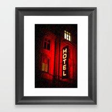 Red Hotel Framed Art Print