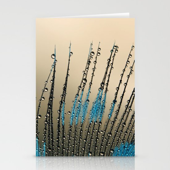 Feather Droplets Stationery Cards