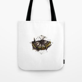 The moth's path Tote Bag