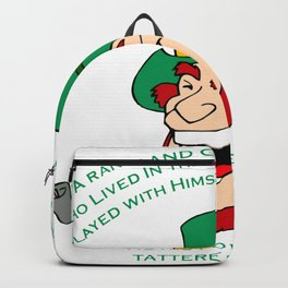 A Randy And Green Leprechaun St Patrick's Day Limerick Backpack