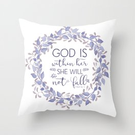 Christian Bible Verse Quote - Psalm 46-5 Throw Pillow