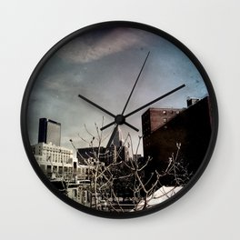 Winter Chill in the City Wall Clock