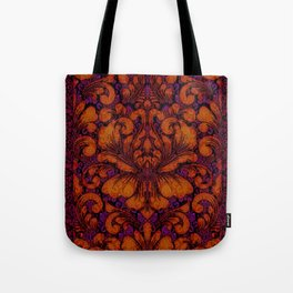 Gothic Flowers Tote Bag