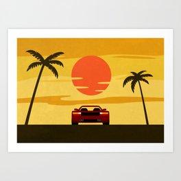 Sunset Cruising Art Print