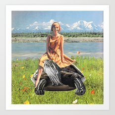 Giddy-up horsey Art Print