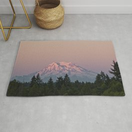 Mt. Rainier at Sunset Rug