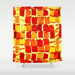 Flame Squares Shower Curtain
