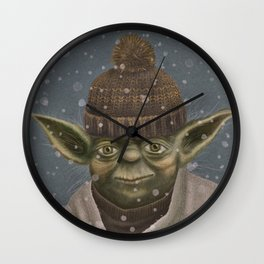 Christmas Yoda Wall Clock