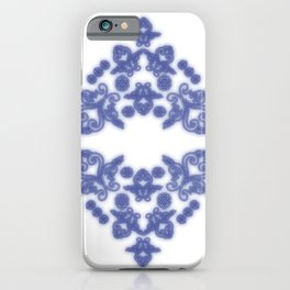 'Love 04' - Heart of lace in blue iPhone Case