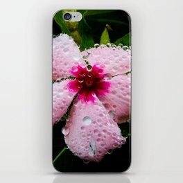 Dewy Pink Flower iPhone Skin