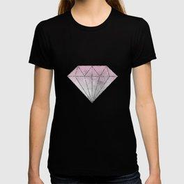 Pink  Grey Soft Gradient Bokeh Lights T-shirt
