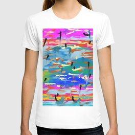 Colorful mixed T-shirt
