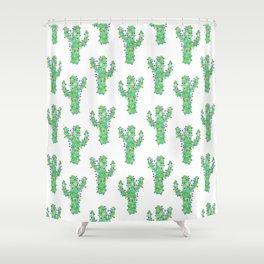 Festive Cactus Shower Curtain