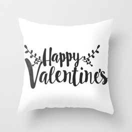 Hand Lettering Happy Valentines Throw Pillow