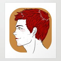 stiles Art Prints featuring stiles by olekkkk