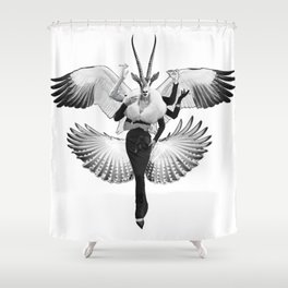 Deity 2 - Goddess of Cocktail Hour Shower Curtain
