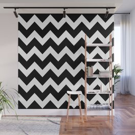 Chevron Black & White Wall Mural