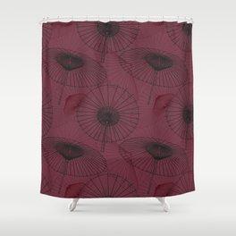 Japanese Umbrella pattern #7 Shower Curtain