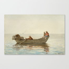 Winslow Homer - Three Boys in a Dory with Lobster Pots Canvas Print