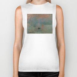 Claude Monet - Impression, Sunrise Biker Tank