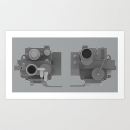 Ghostbusters Positron Collider overview Art Print