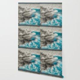 Crashing Waves Artistic Processed Photo Wallpaper