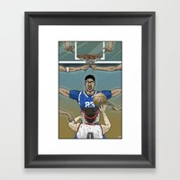 Disrupting the Time-Space Continuum Framed Art Print