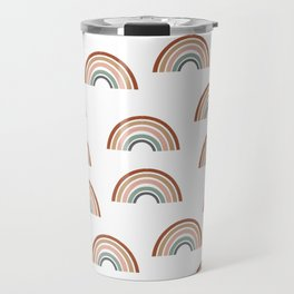 Rainbow pattern muted colorful perfect kids room decor Travel Mug