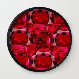 RUBY RED JULY GEM BIRTHSTONE  ART Wall Clock
