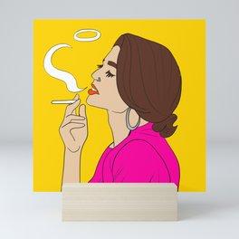 smoking Mini Art Print