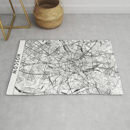 Moscow White Map Rug