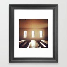 The Old Schoolhouse Framed Art Print