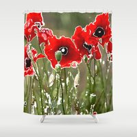 poppies Shower Curtains featuring Poppies by Regan's World