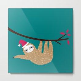 Merry Slothmas Metal Print