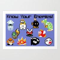 Know Your Enemies!  Art Print