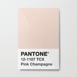 PANTONE ® Pink Champagne Metal Print