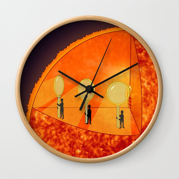 Inner Workings of the Sun Wall Clock