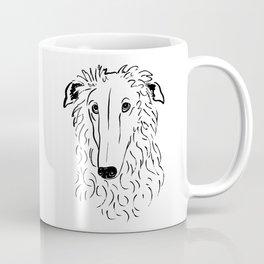 Borzoi (Black and White) Coffee Mug