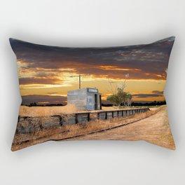 Sunset at the Coonawarra Rail Station Rectangular Pillow