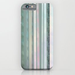 Sage coloured Stripes iPhone Case