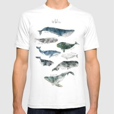 Whales White Mens Fitted Tee MEDIUM