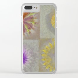 Anticapitalistically Combination Flower  ID:16165-030023-59450 Clear iPhone Case