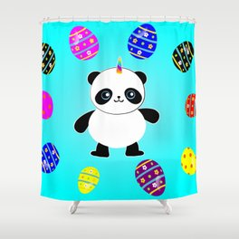 Happy Easter Pandacorn Shower Curtain