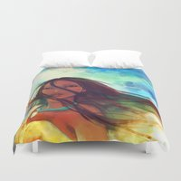 movie posters Duvet Covers featuring The Wind... by Alice X. Zhang